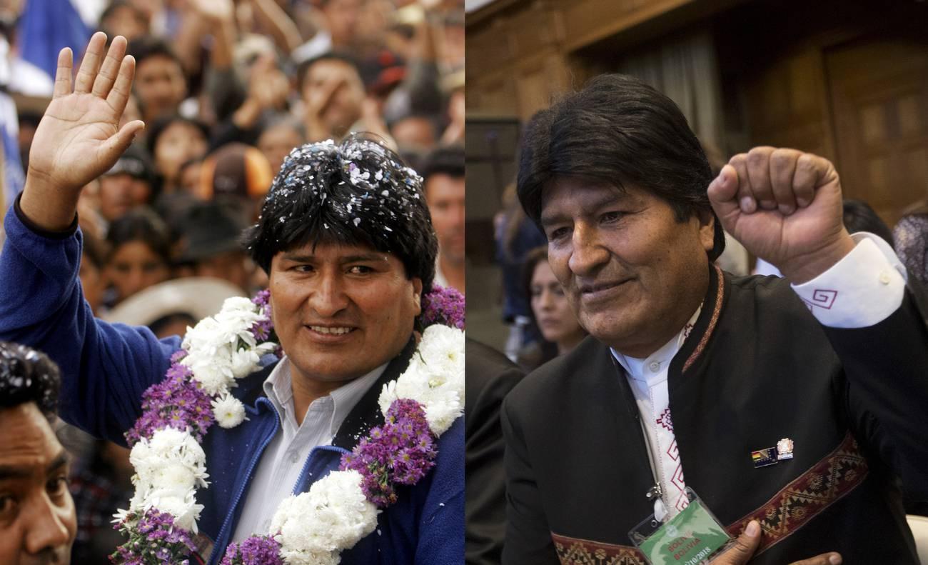 El #13YearsChallenge de Evo Morales