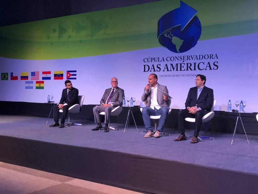 La Cumbre de los Bolsonaro  La extrema derecha en Foz de Iguazú